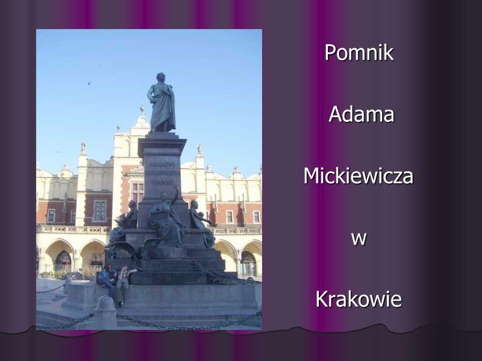 Pomnik Adama Mickiewicza w Krakowie