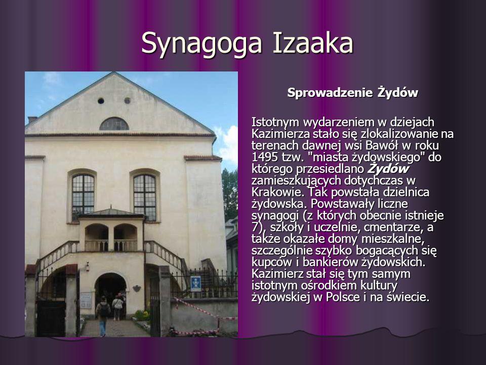 Synagoga Izaaka Sprowadzenie Żydów.