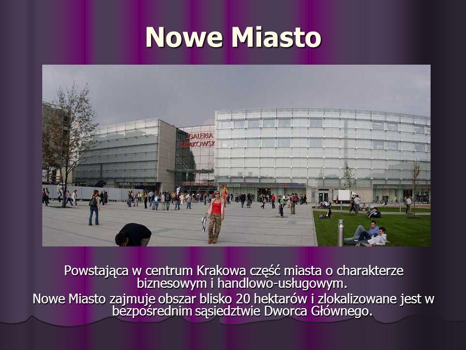 Nowe Miasto Powstająca w centrum Krakowa część miasta o charakterze biznesowym i handlowo-usługowym.