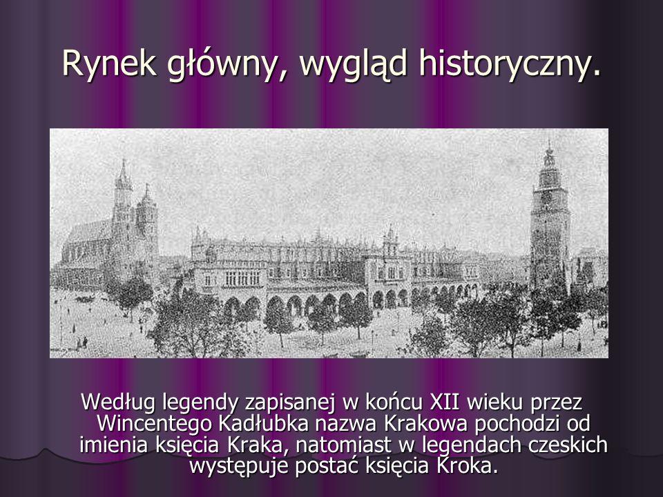 Rynek główny, wygląd historyczny.
