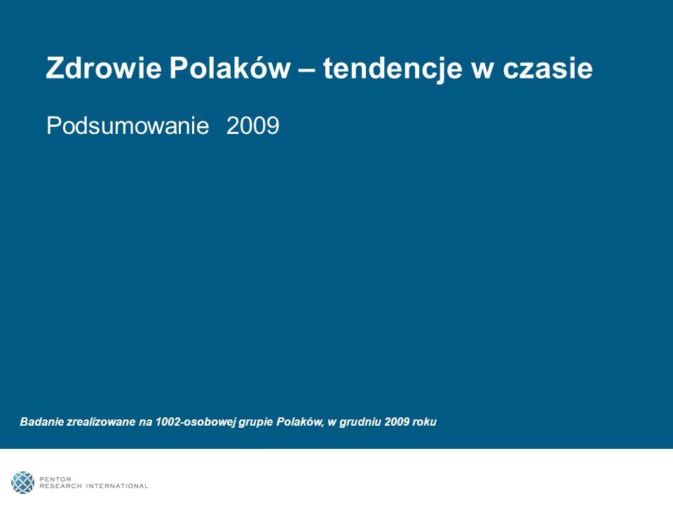 Zdrowie Polaków – tendencje w czasie