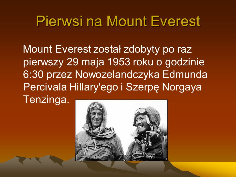 Pierwsi na Mount Everest