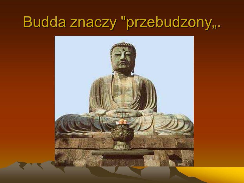 """Budda znaczy przebudzony""""."""