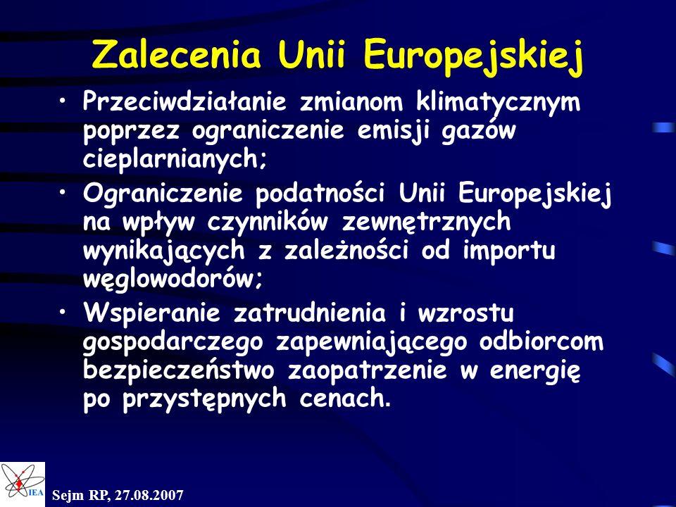Zalecenia Unii Europejskiej