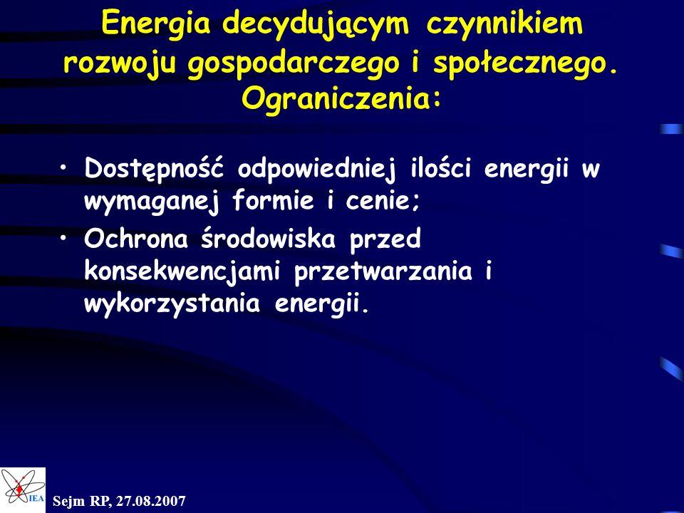 Energia decydującym czynnikiem rozwoju gospodarczego i społecznego
