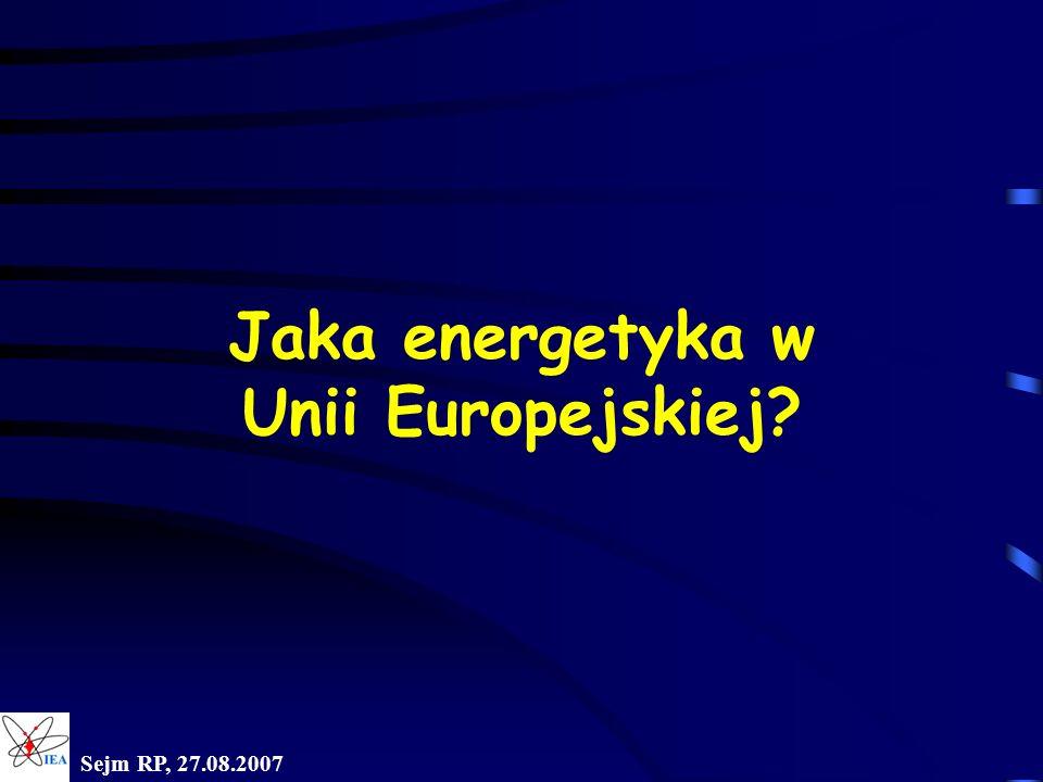 Jaka energetyka w Unii Europejskiej