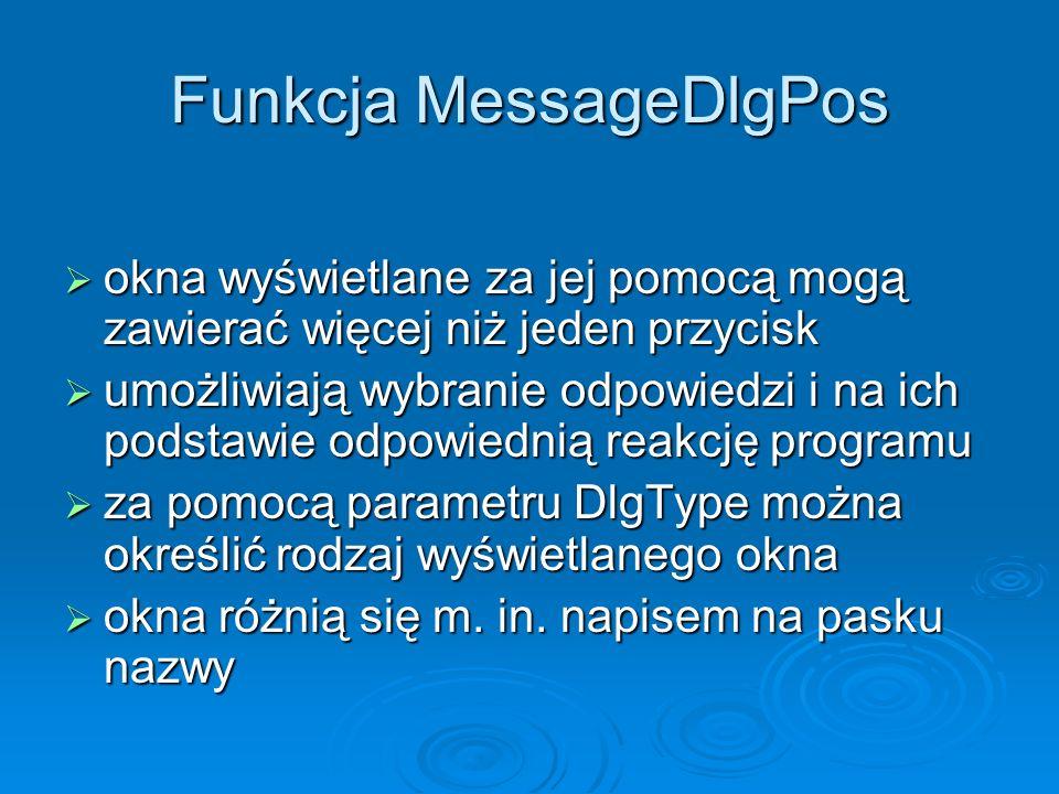 Funkcja MessageDlgPos