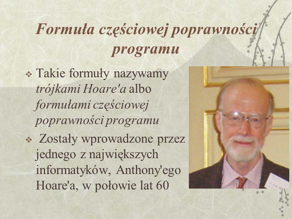 Formuła częściowej poprawności programu