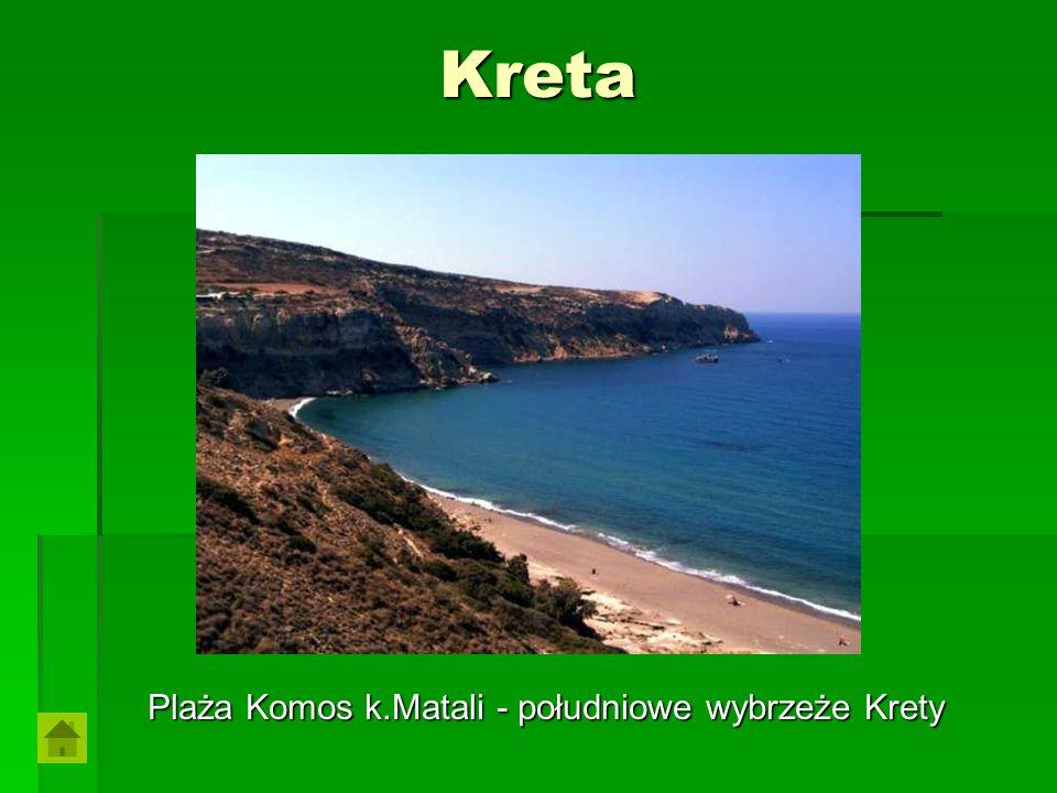 Plaża Komos k.Matali - południowe wybrzeże Krety