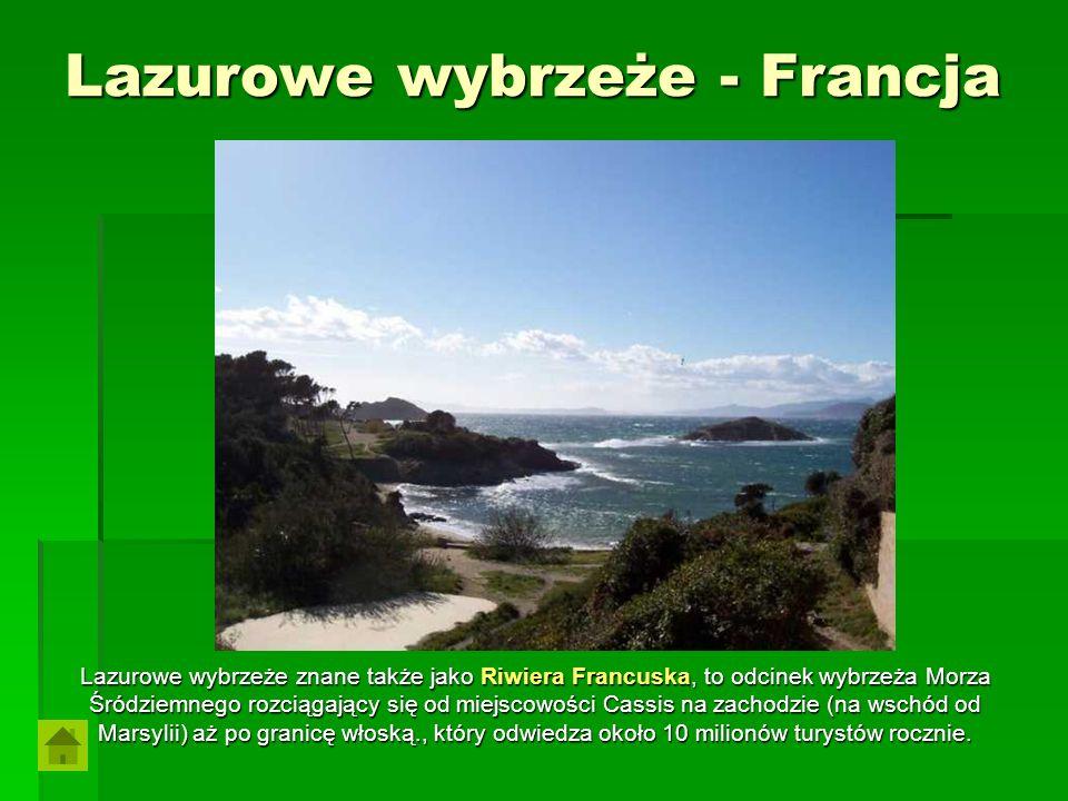 Lazurowe wybrzeże - Francja