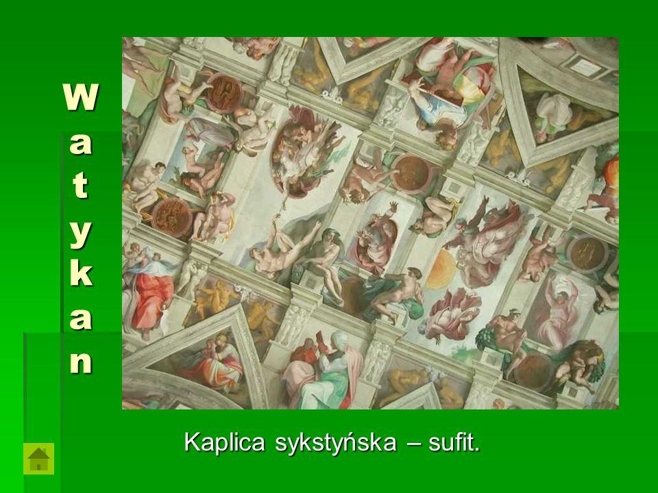 Kaplica sykstyńska – sufit.