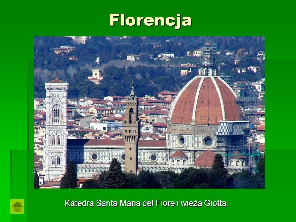 Katedra Santa Maria del Fiore i wieża Giotta.