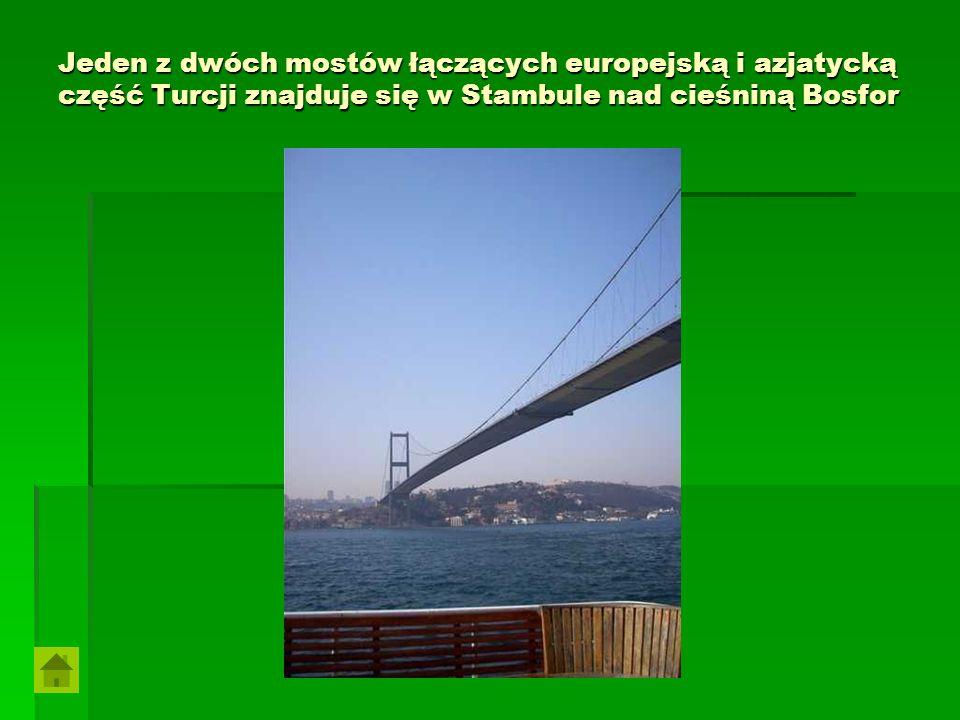 Jeden z dwóch mostów łączących europejską i azjatycką część Turcji znajduje się w Stambule nad cieśniną Bosfor