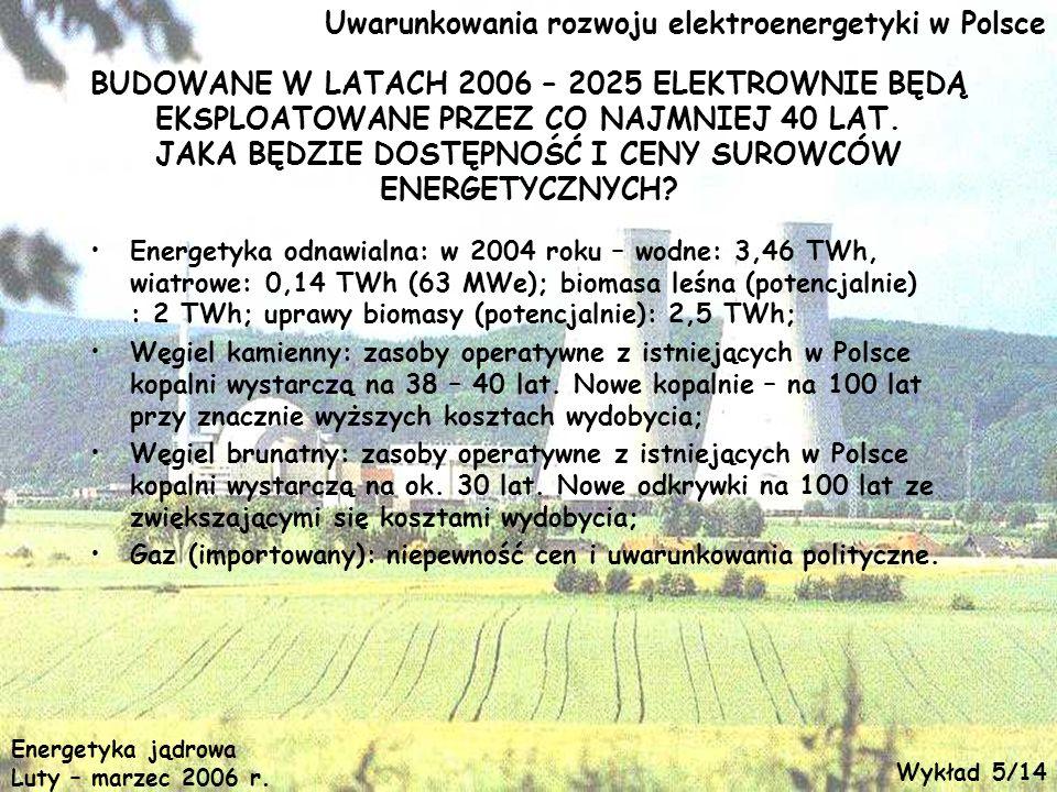 Uwarunkowania rozwoju elektroenergetyki w Polsce