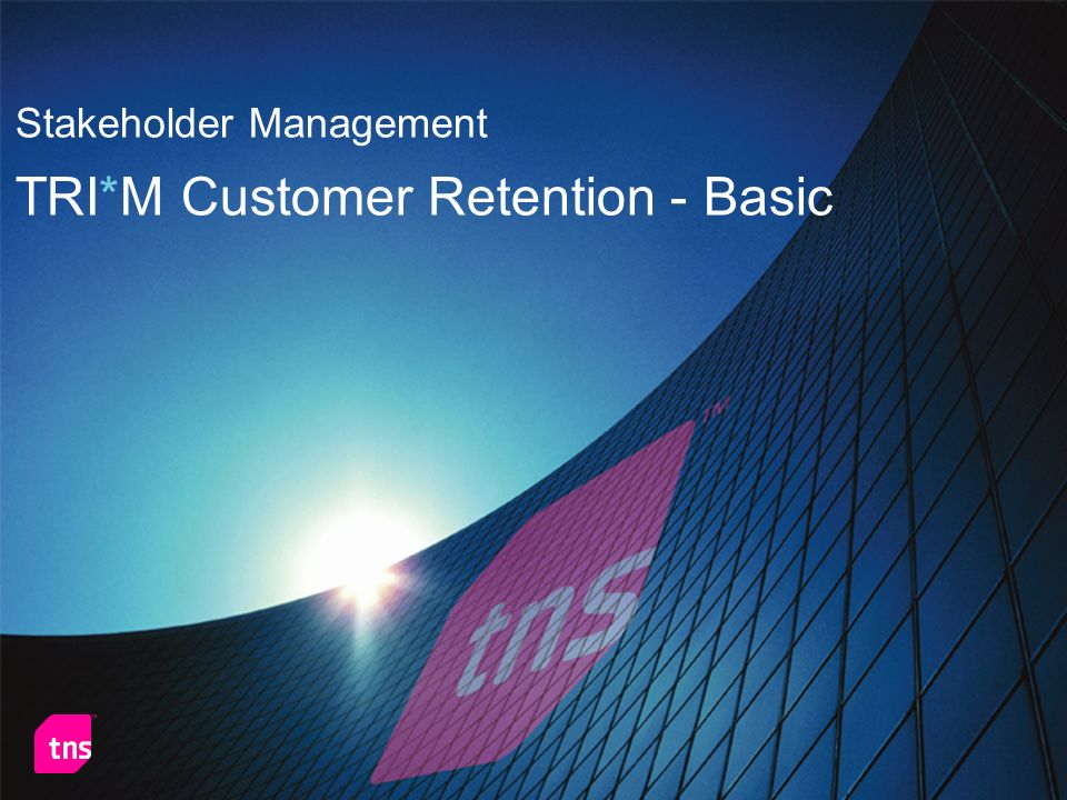 TRI*M Customer Retention - Basic