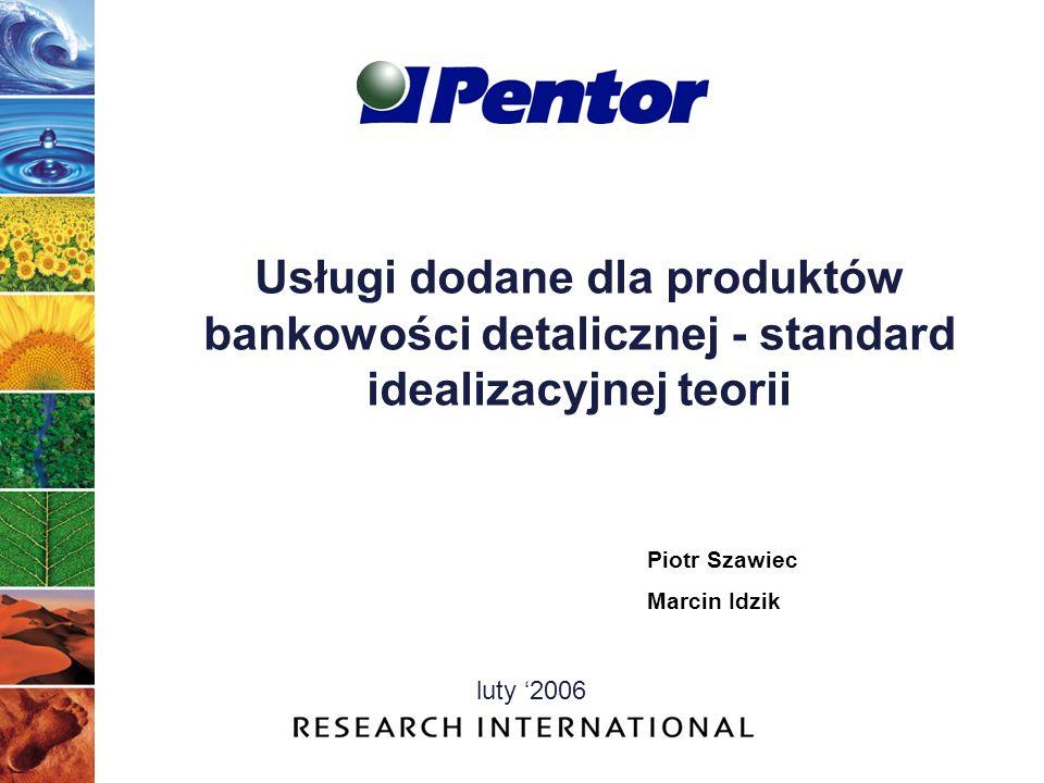 Usługi dodane dla produktów bankowości detalicznej - standard idealizacyjnej teorii