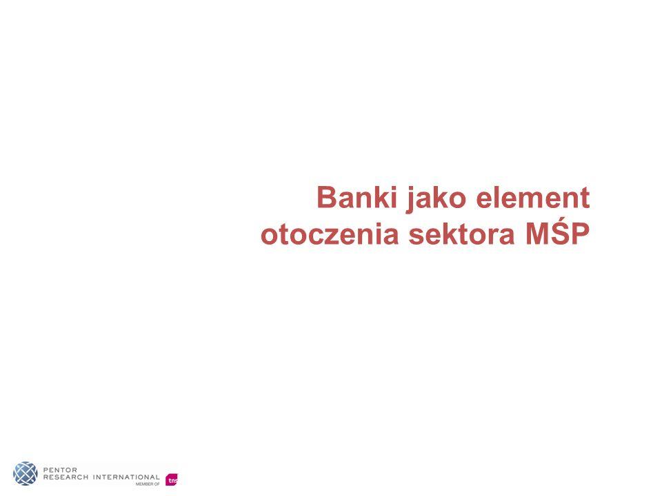 Banki jako element otoczenia sektora MŚP