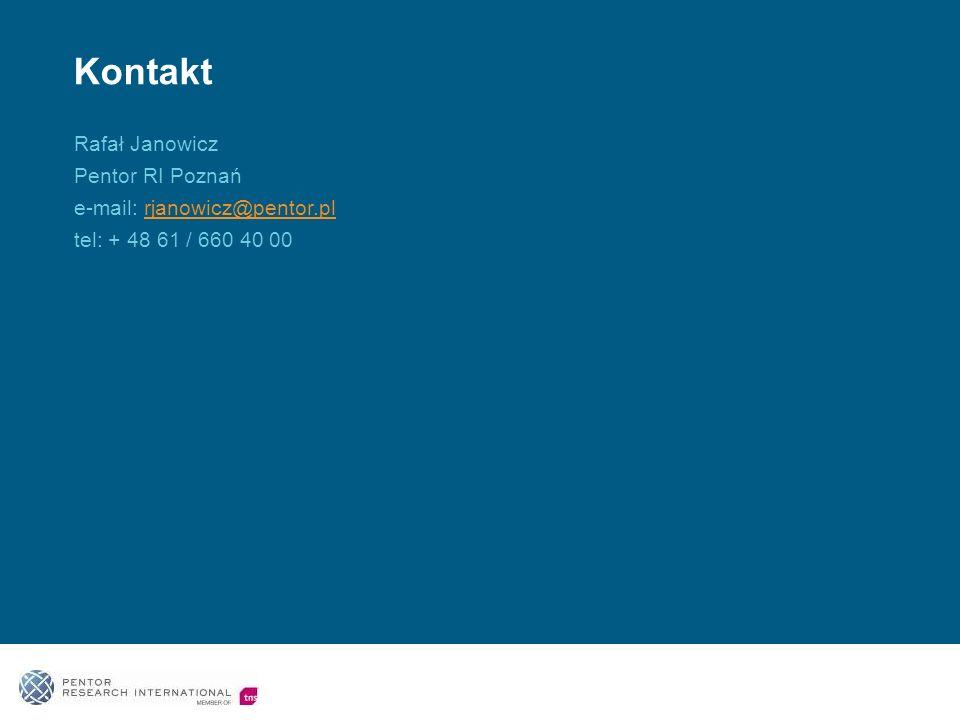 Kontakt Rafał Janowicz Pentor RI Poznań e-mail: rjanowicz@pentor.pl