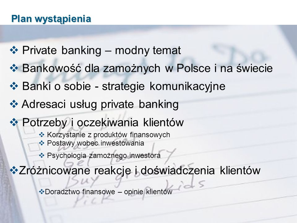 Private banking – modny temat