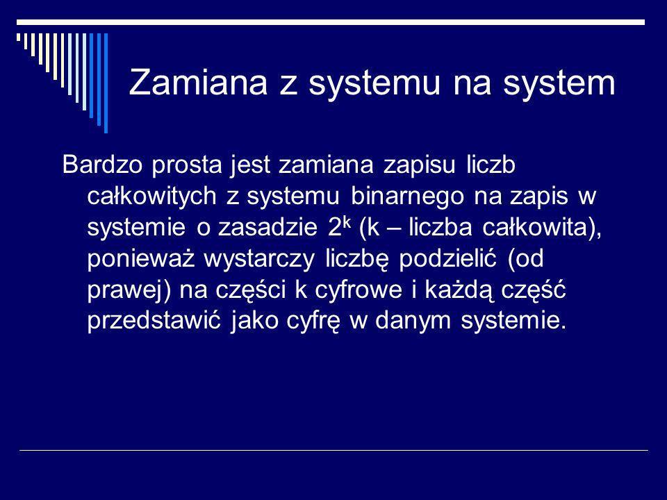 Zamiana z systemu na system