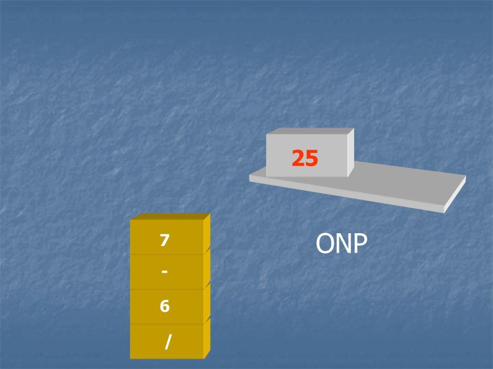 25 7 ONP - 6 / /