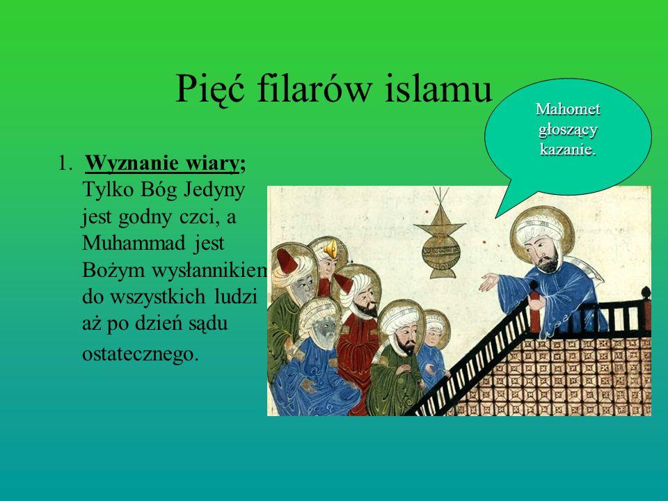 Mahomet głoszący kazanie.