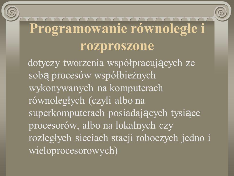 Programowanie równoległe i rozproszone