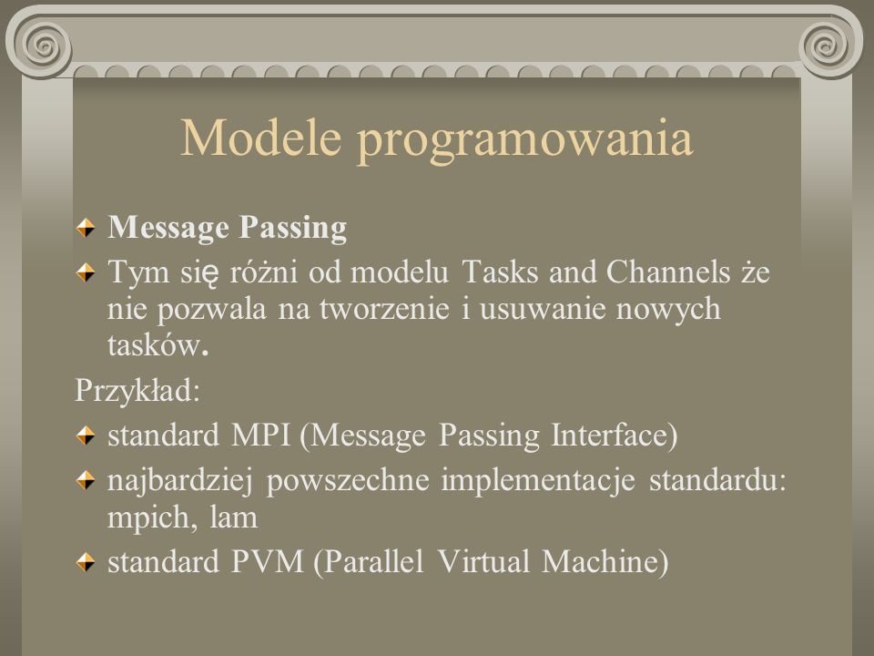 Modele programowania Message Passing