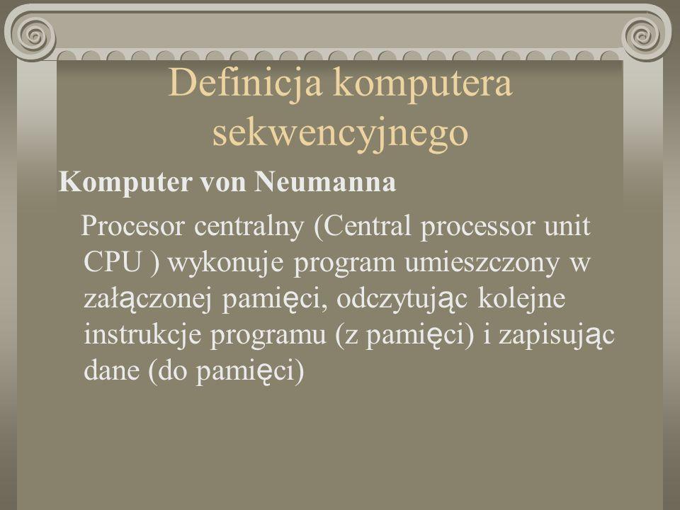 Definicja komputera sekwencyjnego
