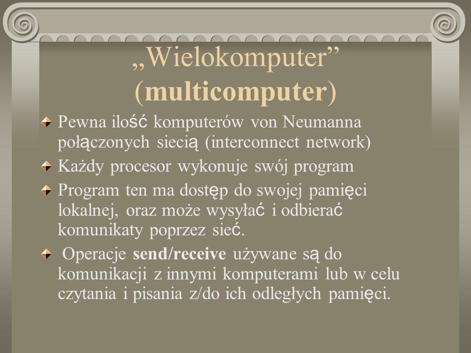 """Wielokomputer (multicomputer)"