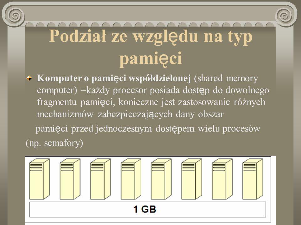 Podział ze względu na typ pamięci