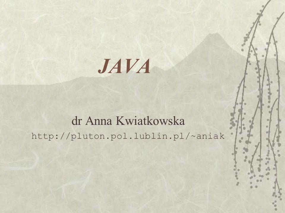 dr Anna Kwiatkowska http://pluton.pol.lublin.pl/~aniak