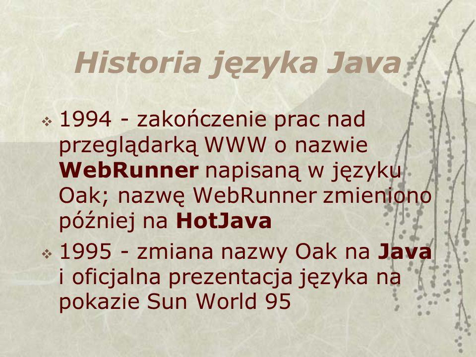 Historia języka Java