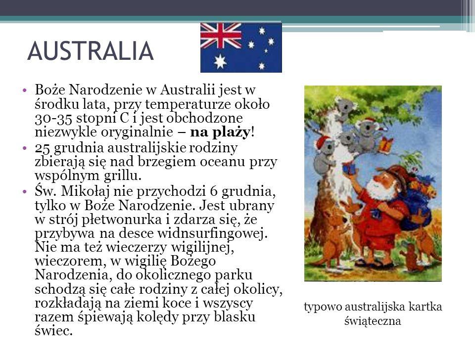 typowo australijska kartka świąteczna