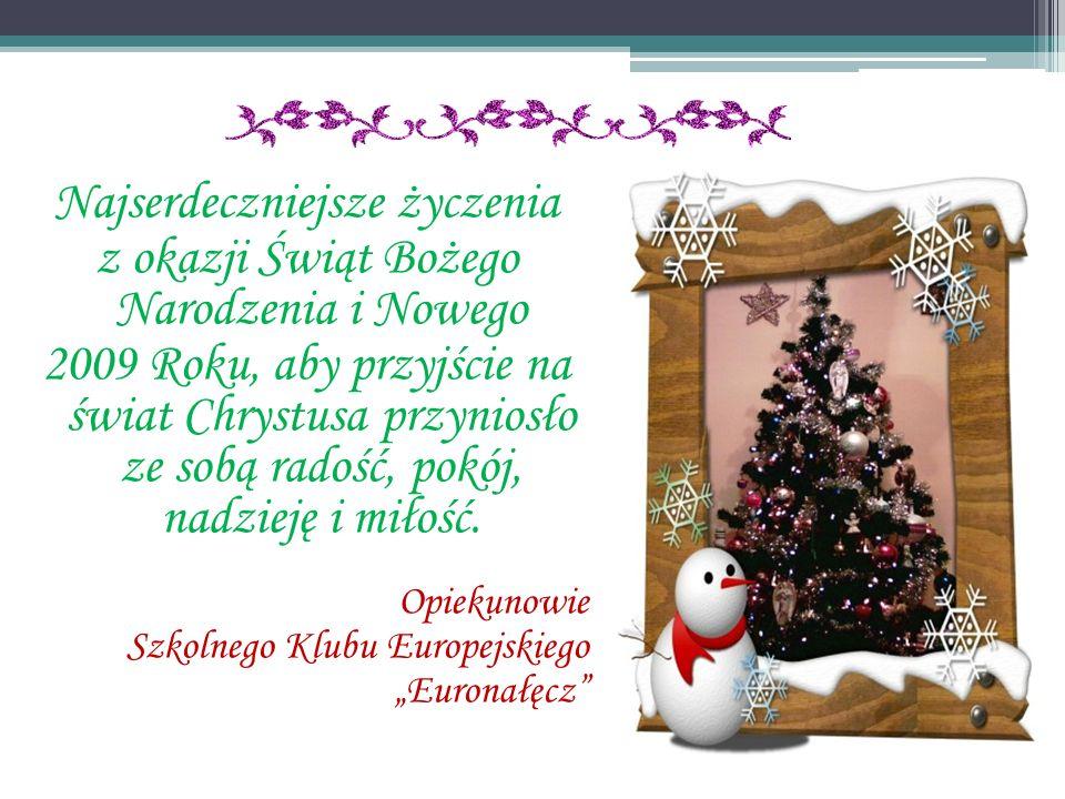 Najserdeczniejsze życzenia z okazji Świąt Bożego Narodzenia i Nowego