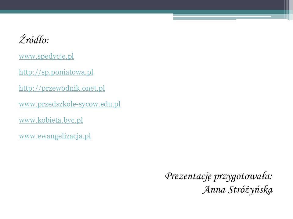Prezentację przygotowała: Anna Stróżyńska