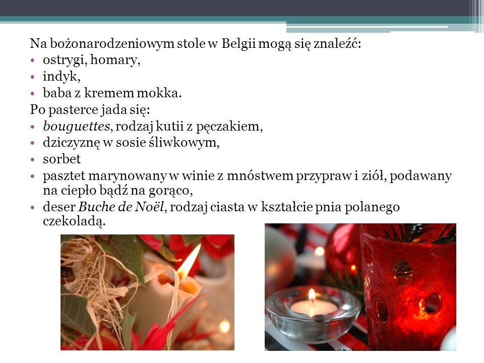 Na bożonarodzeniowym stole w Belgii mogą się znaleźć: