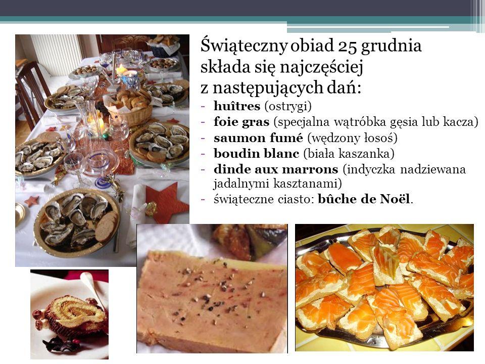 Świąteczny obiad 25 grudnia składa się najczęściej