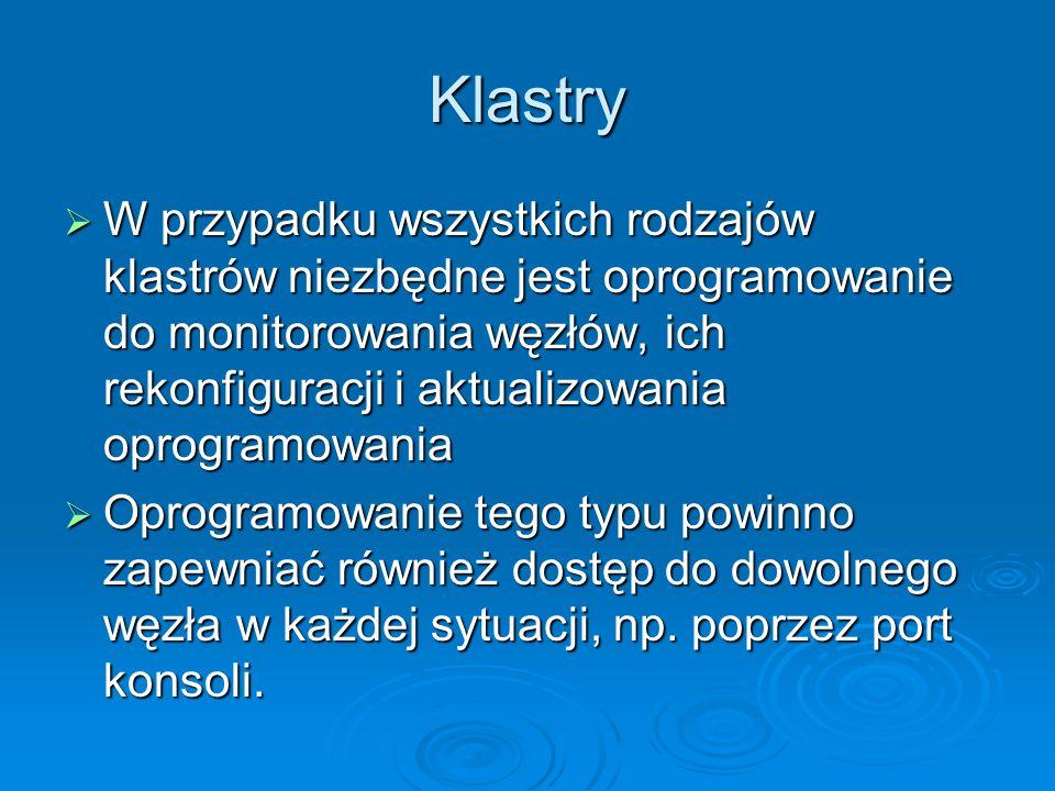 Klastry