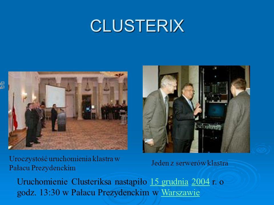 CLUSTERIX Uroczystość uruchomienia klastra w Pałacu Prezydenckim. Jeden z serwerów klastra.