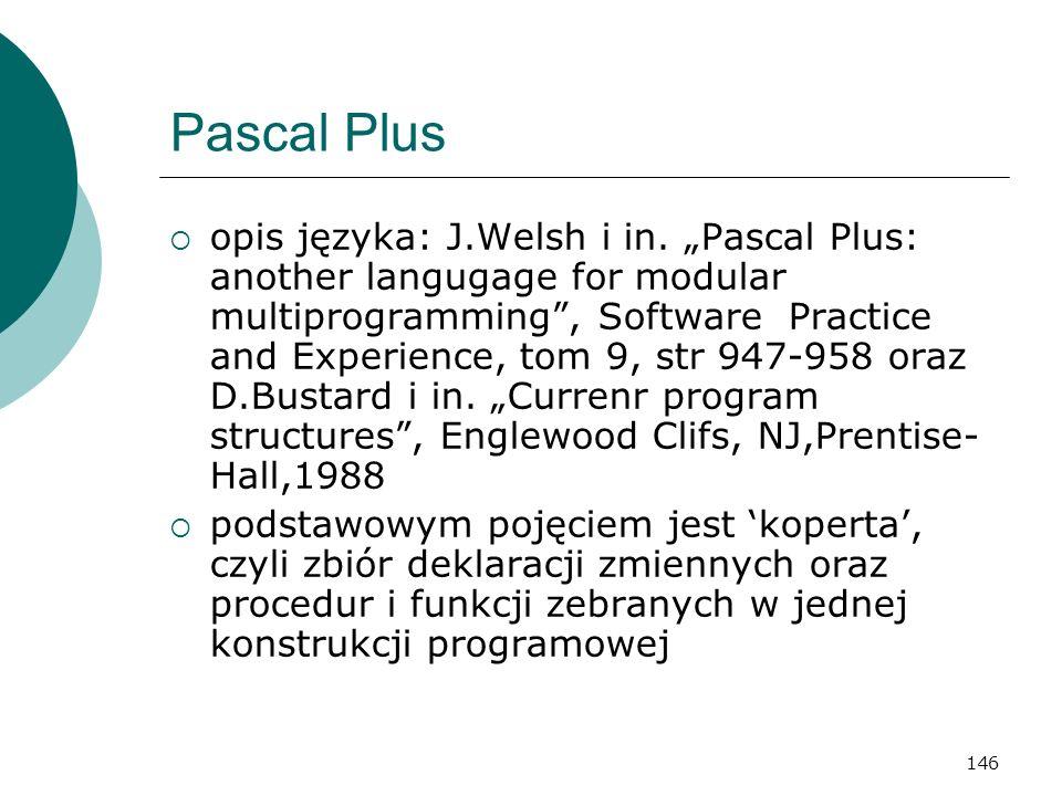 Pascal Plus
