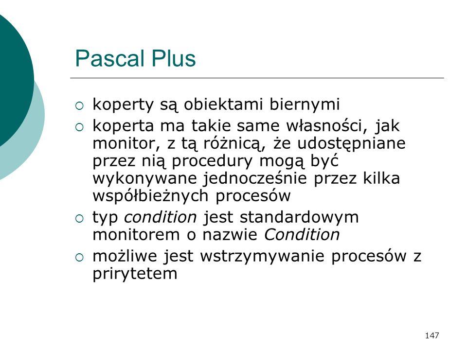 Pascal Plus koperty są obiektami biernymi