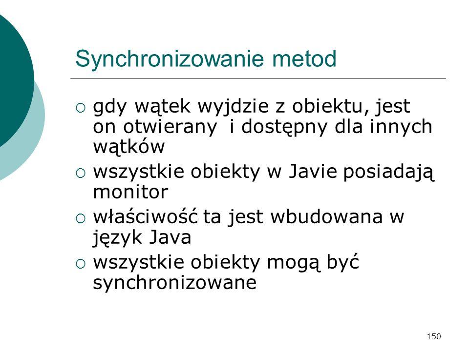 Synchronizowanie metod