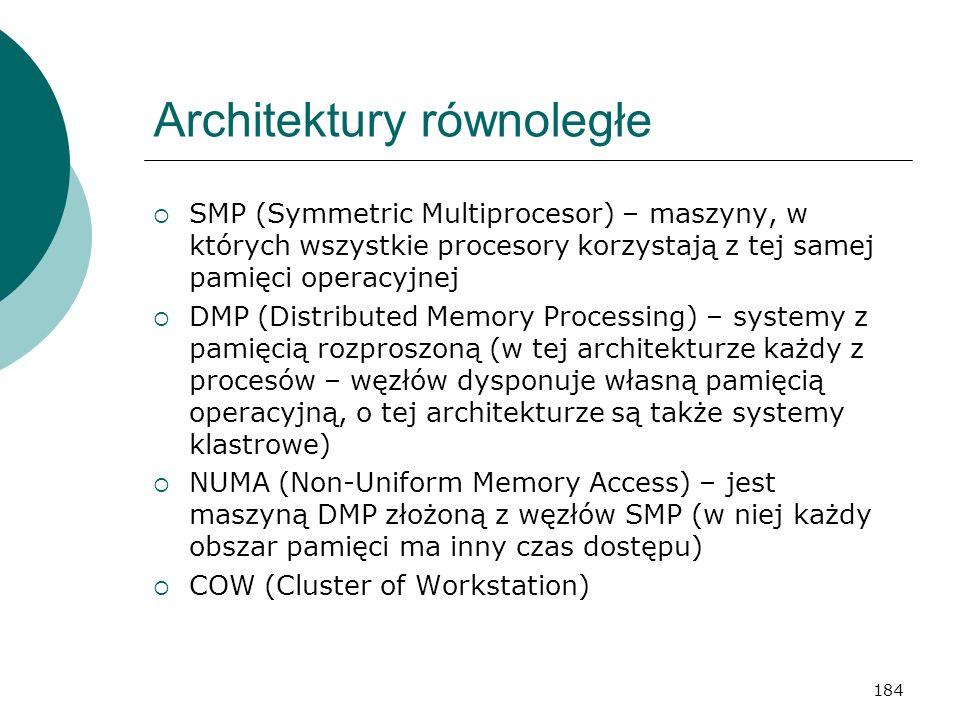 Architektury równoległe