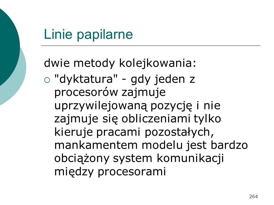 Linie papilarne dwie metody kolejkowania: