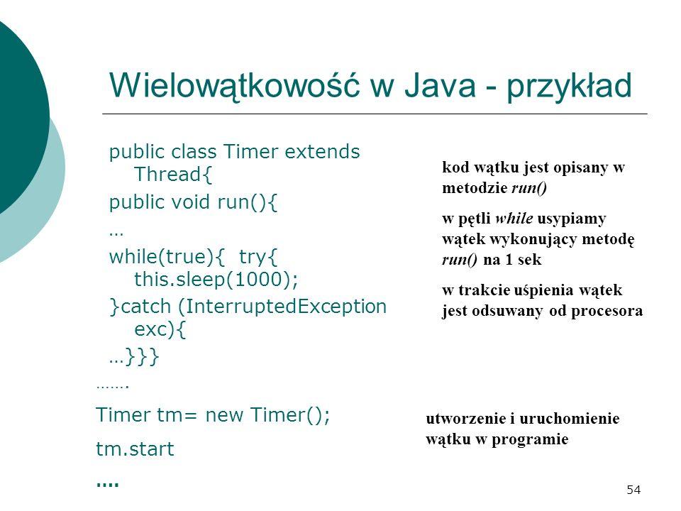 Wielowątkowość w Java - przykład