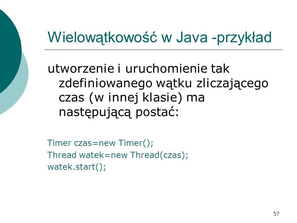 Wielowątkowość w Java -przykład