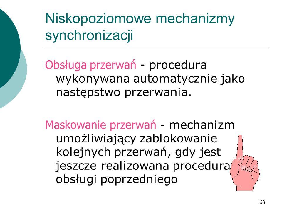 Niskopoziomowe mechanizmy synchronizacji
