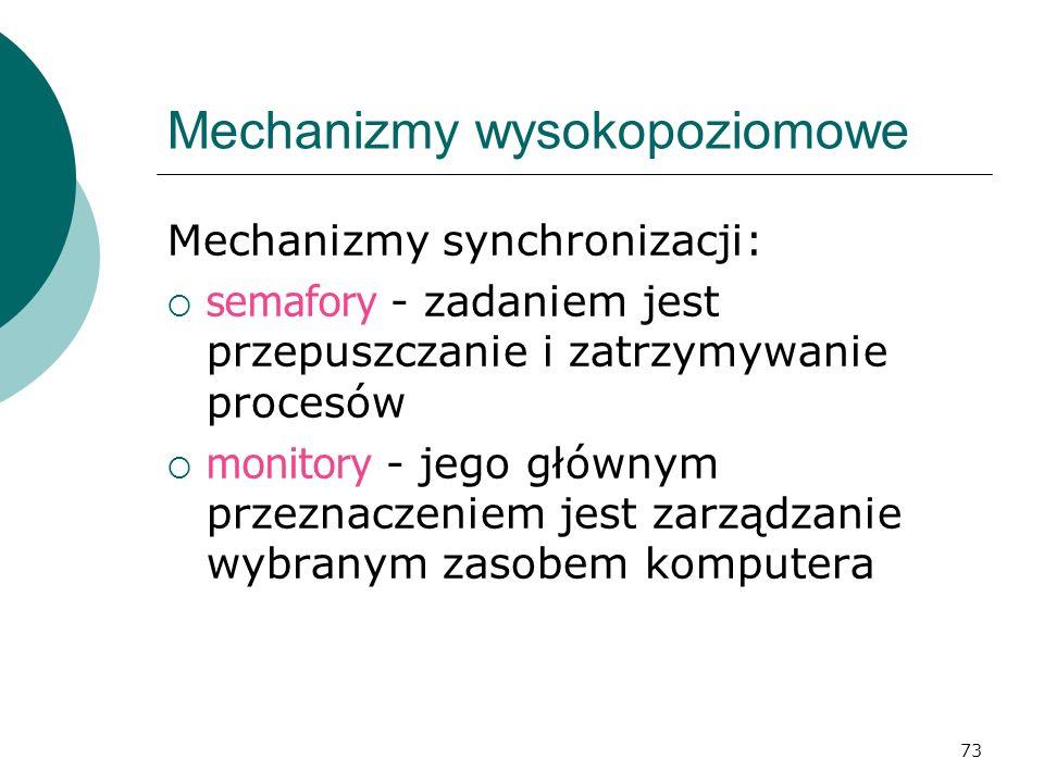 Mechanizmy wysokopoziomowe