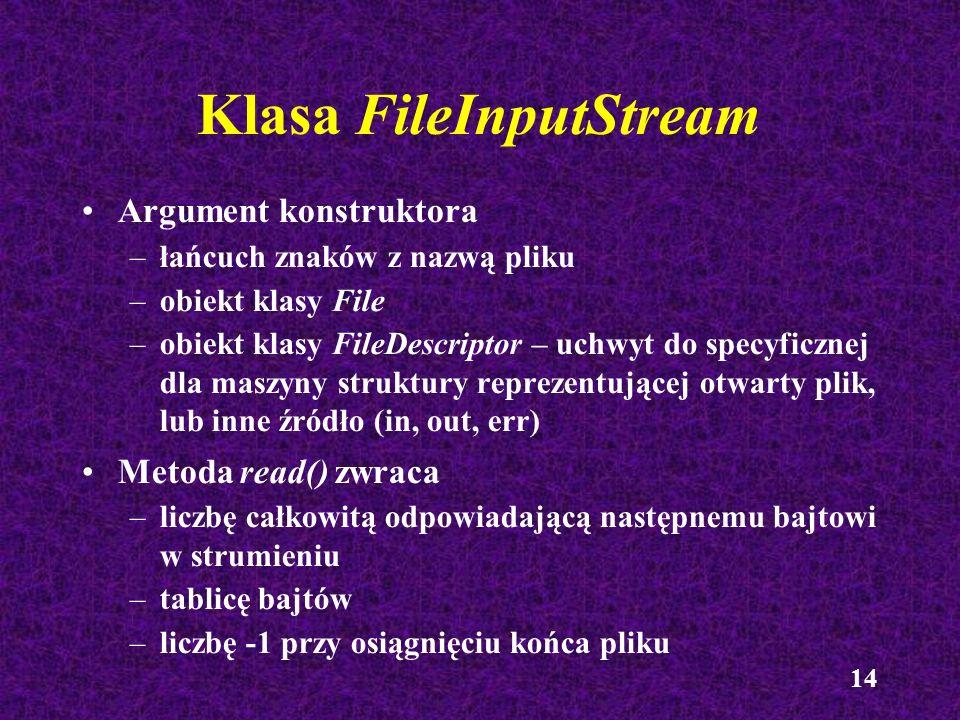Klasa FileInputStream